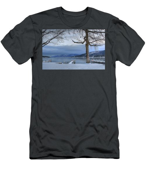 Lake George In The Winter Men's T-Shirt (Slim Fit) by Sharon Batdorf
