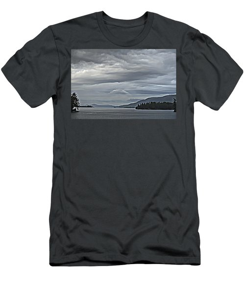 Lake George Rain And Clouds Men's T-Shirt (Athletic Fit)