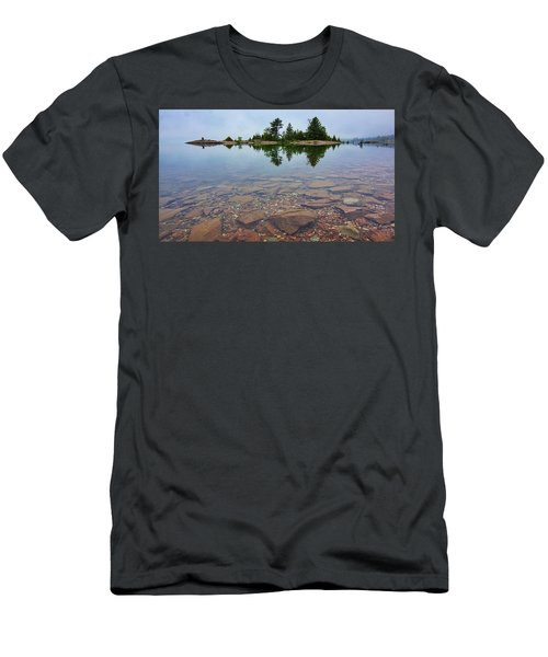 Lake Huron Island Men's T-Shirt (Athletic Fit)