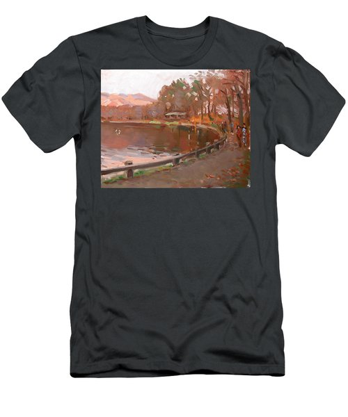 Lake In Bear Mountin Men's T-Shirt (Athletic Fit)