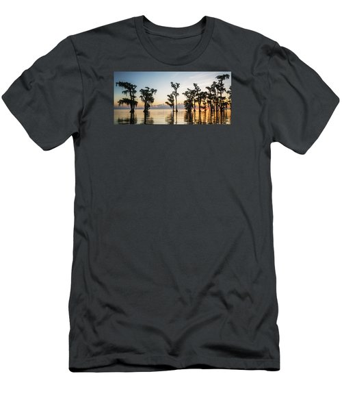 Lake Maurepas Sunrise Men's T-Shirt (Slim Fit) by Andy Crawford