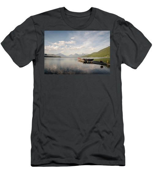 Men's T-Shirt (Athletic Fit) featuring the photograph Lake Mcdonald by Margaret Pitcher