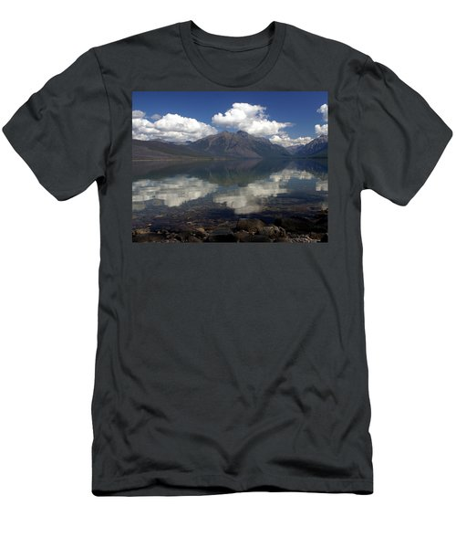 Lake Mcdonald Reflection Glacier National Park Men's T-Shirt (Athletic Fit)