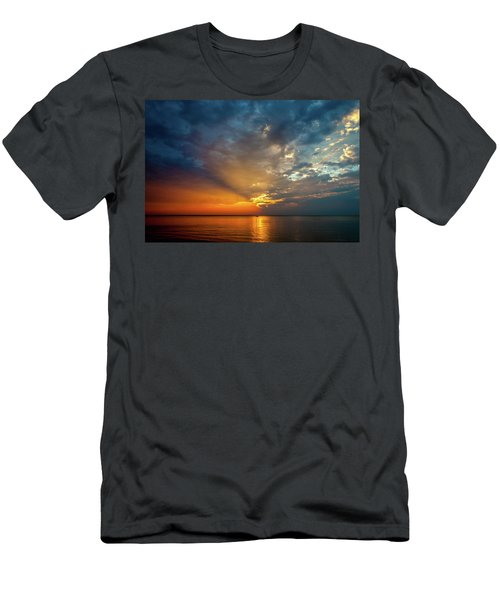 Lake Michigan Sunset Men's T-Shirt (Athletic Fit)