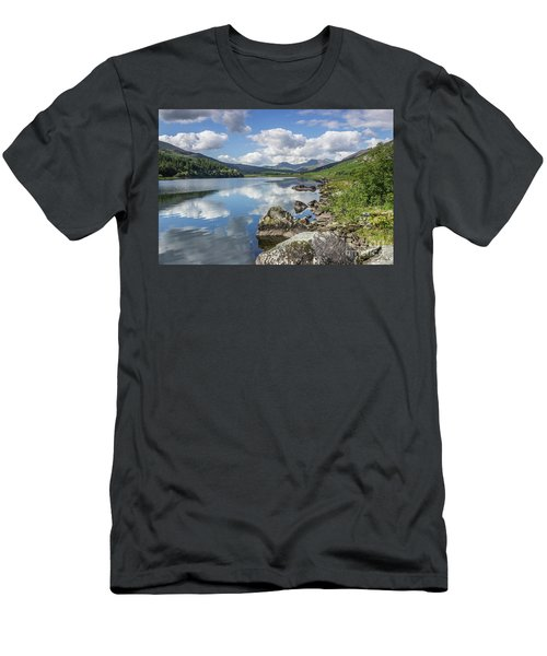 Lake Mymbyr And Snowdon Men's T-Shirt (Slim Fit) by Ian Mitchell