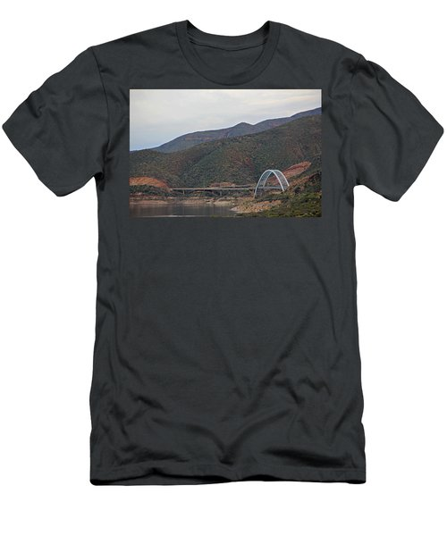 Lake Roosevelt Bridge 2 Men's T-Shirt (Athletic Fit)