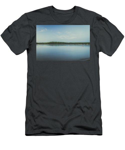 Lake Scene Men's T-Shirt (Slim Fit) by Scott Meyer