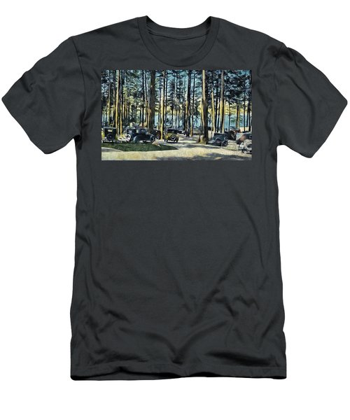 Lake Shore Park - Gilford N H Men's T-Shirt (Slim Fit) by Mim White