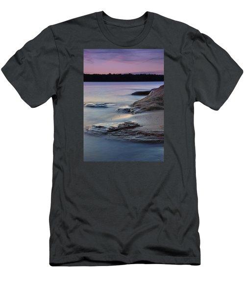Lake Sunset V Men's T-Shirt (Slim Fit)