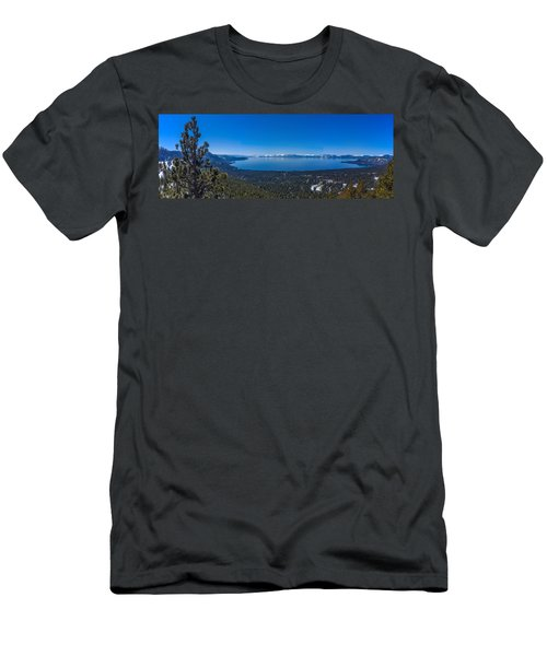 Lake Tahoe Spring Overlook Panoramic Men's T-Shirt (Athletic Fit)