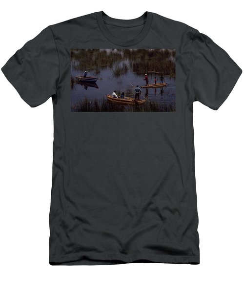Lake Titicaca Reed Boats Men's T-Shirt (Athletic Fit)