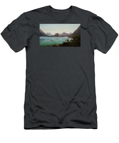 Lake Wakatipu With Mount Earnslaw. Middle Island New Zealand Men's T-Shirt (Athletic Fit)