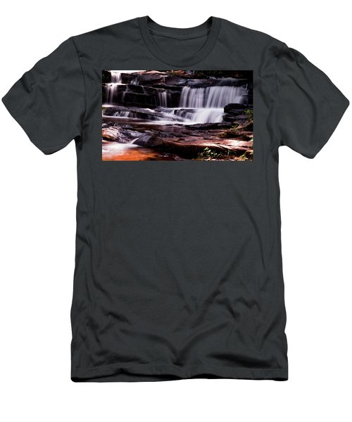 Lake Waterfall Men's T-Shirt (Athletic Fit)