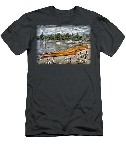 Men's T-Shirt (Slim Fit) featuring the photograph Lake Windamere by Walt Foegelle