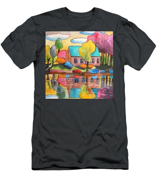 Lakeside Dream House Men's T-Shirt (Athletic Fit)