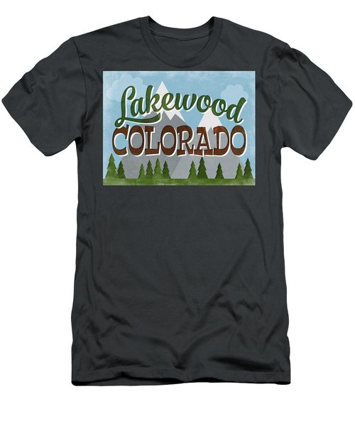 Lakewood Colorado Snowy Mountains Men's T-Shirt (Athletic Fit)