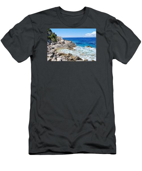 Lakka Coastline On Paxos Men's T-Shirt (Athletic Fit)