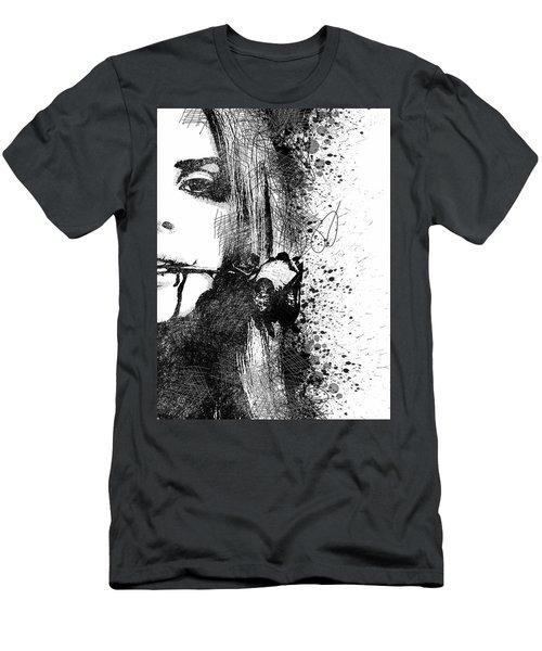 Lana Del Rey Half Face Portrait 2 Men's T-Shirt (Athletic Fit)