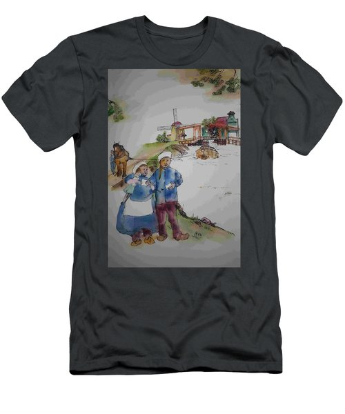 Land Of Windmill Clogs  And Tulips Album Men's T-Shirt (Athletic Fit)