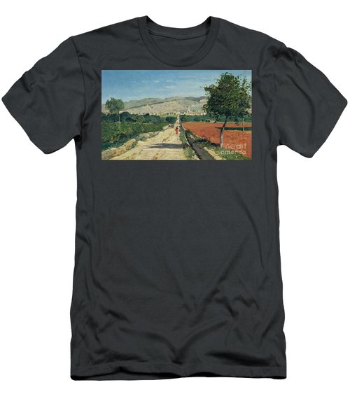 Landscape In Provence Men's T-Shirt (Athletic Fit)