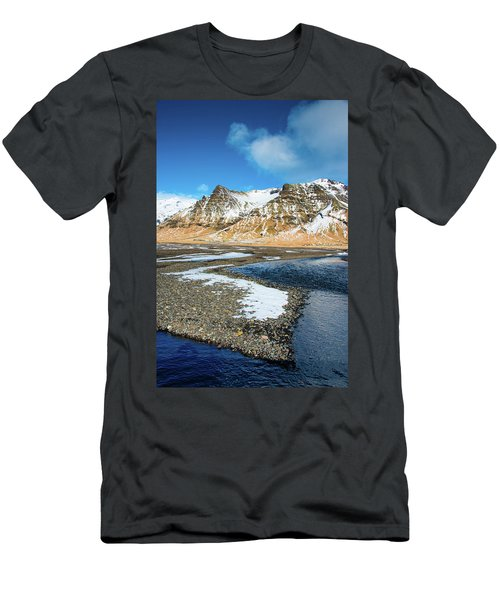 Men's T-Shirt (Slim Fit) featuring the photograph Landscape Sudurland South Iceland by Matthias Hauser