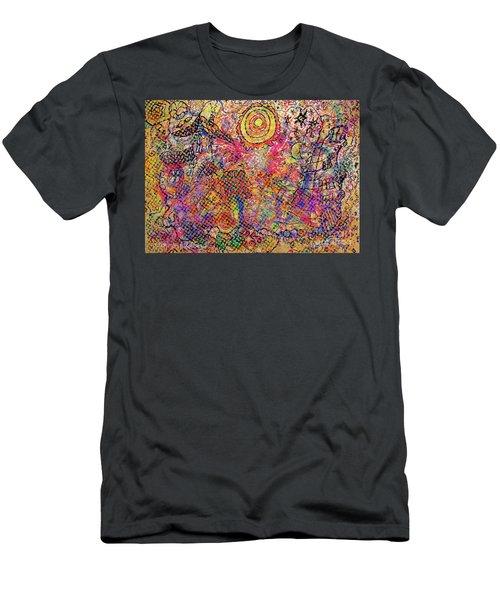 Landscape With Dots Men's T-Shirt (Athletic Fit)