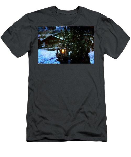 Lantern In The Woods Men's T-Shirt (Slim Fit) by Vittorio Chiampan
