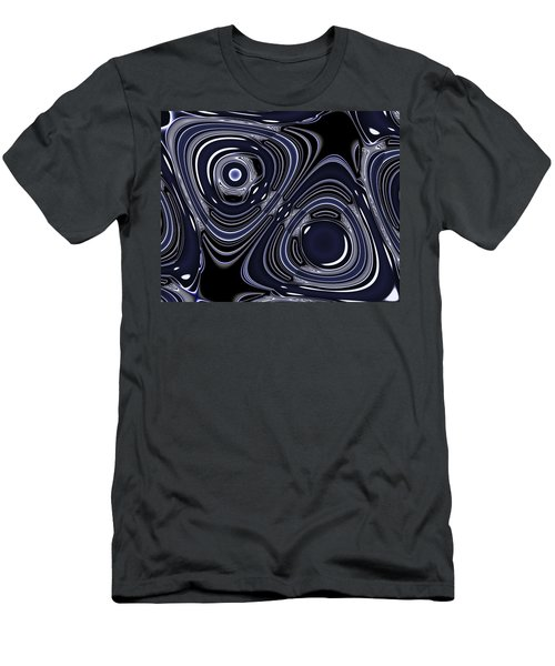 Lapis And Chrome Abstract Men's T-Shirt (Athletic Fit)