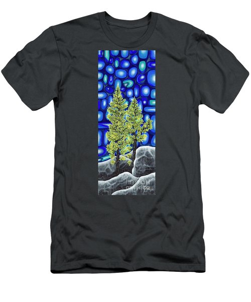 Men's T-Shirt (Slim Fit) featuring the painting Larch Dreams 3 by Rebecca Parker