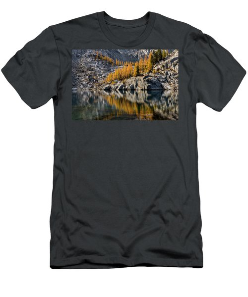 Larch Reflection In Enchantments Men's T-Shirt (Athletic Fit)