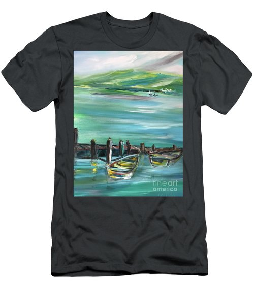 Large Acrylic Painting Men's T-Shirt (Athletic Fit)