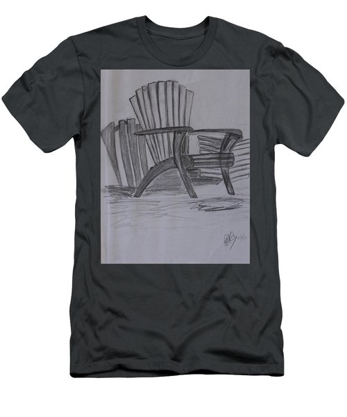 Large Chair On The Lawn Men's T-Shirt (Athletic Fit)