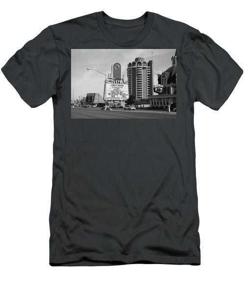Men's T-Shirt (Slim Fit) featuring the photograph Las Vegas 1994 #1 Bw by Frank Romeo