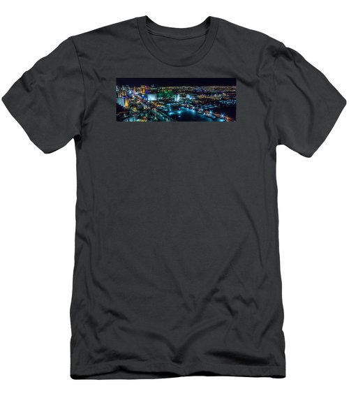 Men's T-Shirt (Slim Fit) featuring the photograph Las Vegas Looking North by Michael Rogers