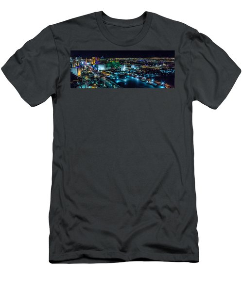 Las Vegas Looking North Men's T-Shirt (Athletic Fit)