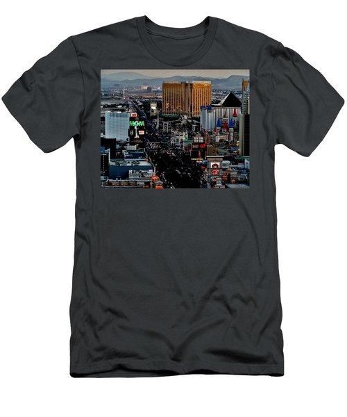 Las Vegas Strip Men's T-Shirt (Athletic Fit)