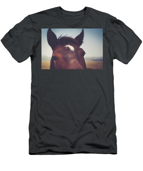 Men's T-Shirt (Slim Fit) featuring the photograph Lashes by Shane Holsclaw