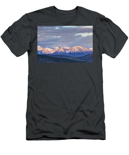 Last Light On Winter Peaks Men's T-Shirt (Athletic Fit)