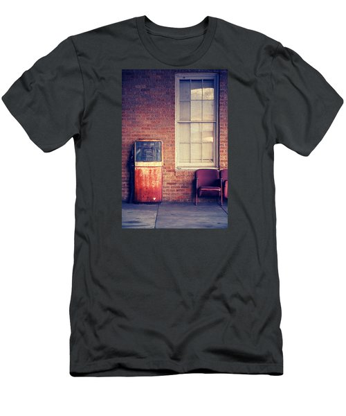Men's T-Shirt (Slim Fit) featuring the photograph Last Pump Standing by Trish Mistric