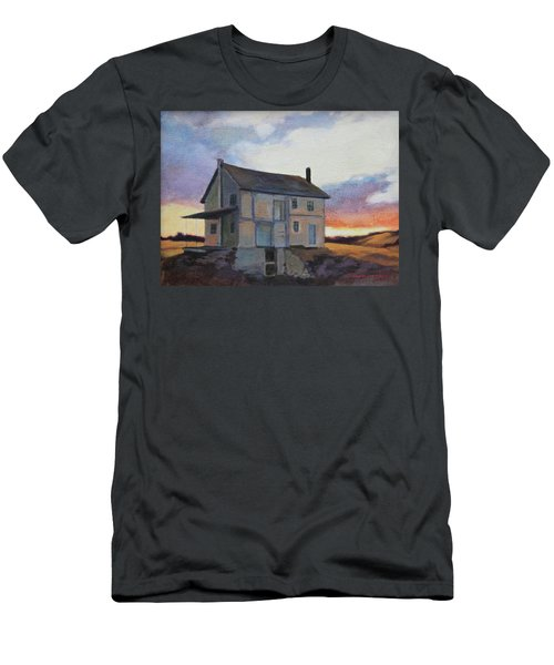 Men's T-Shirt (Slim Fit) featuring the painting Last Stand by Andrew Danielsen
