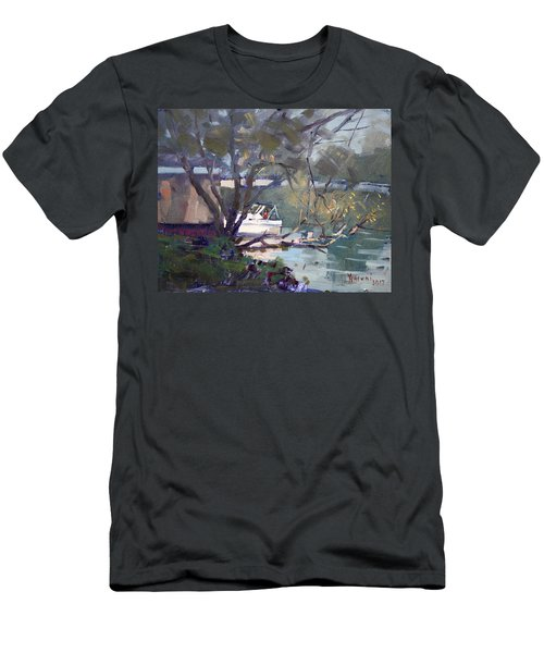 Last Sun Touches By Tonawanda Canal Men's T-Shirt (Athletic Fit)