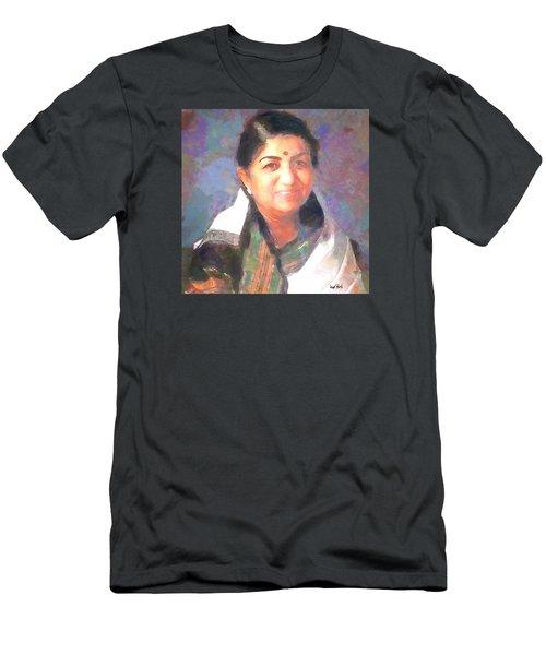 Lata Mangeshkar  Men's T-Shirt (Slim Fit) by Wayne Pascall