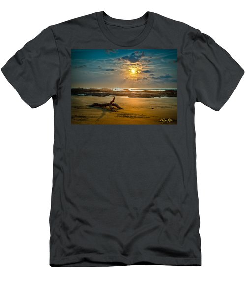 Men's T-Shirt (Athletic Fit) featuring the photograph Late Afternoon Costa Rican Beach Scene by Rikk Flohr