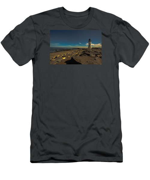 Late Light At The Light Men's T-Shirt (Slim Fit) by Brian MacLean