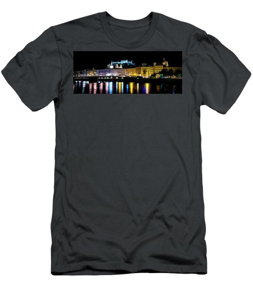 Men's T-Shirt (Slim Fit) featuring the photograph Late Night Stroll In Salzburg by David Morefield