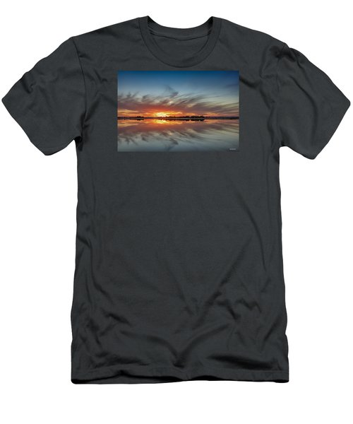 Men's T-Shirt (Slim Fit) featuring the digital art Late November Reflections by Phil Mancuso