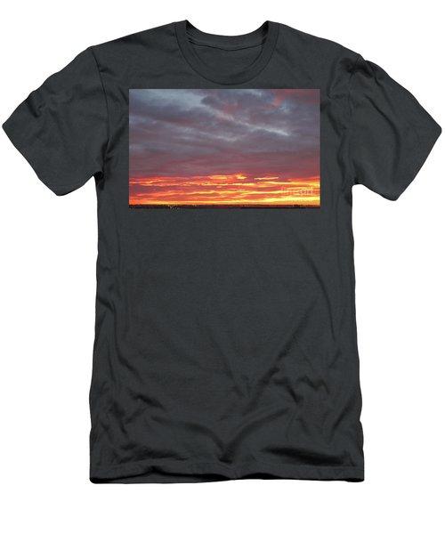 Late Prairie Sunrise Men's T-Shirt (Athletic Fit)