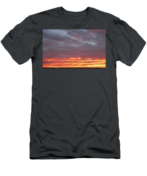Late Prairie Sunrise Men's T-Shirt (Athletic Fit)