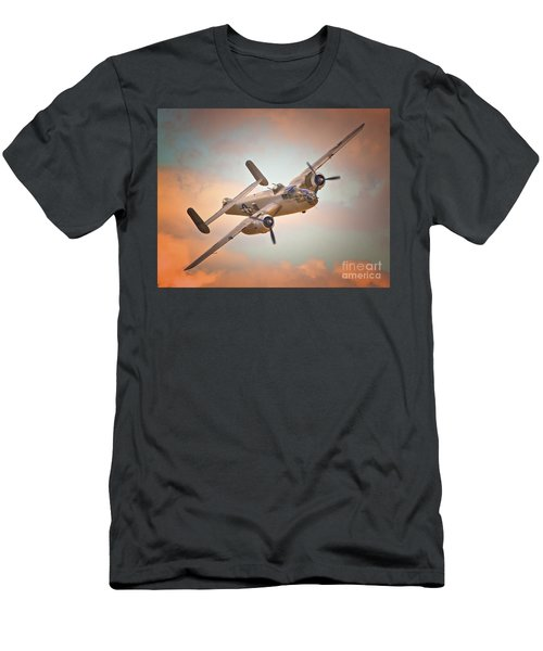 Late Return,north American B-25 Mitchell  Men's T-Shirt (Athletic Fit)