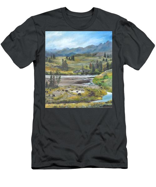 Late Summer In Yellowstone Men's T-Shirt (Athletic Fit)